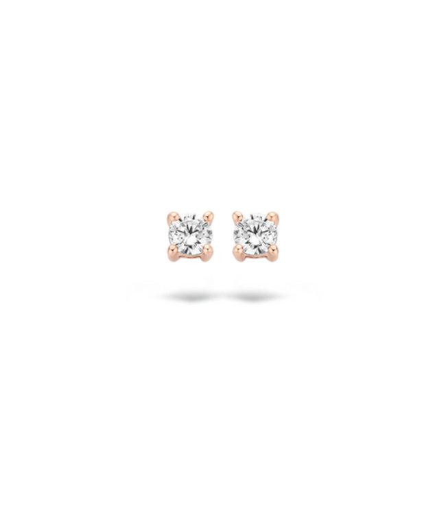 Blush oorbellen 14kt 7211RZI