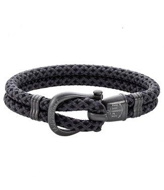 Paul Hewitt Phinity Shackle nylon Bracelet PH-SH-N-GM-BG