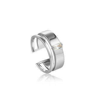 Ania Haie Glow Getter - Glow Wide adjustable ring R018-02H