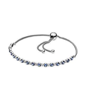 Pandora Blue & Clear Sparkle Sliding bracelet 598517C01