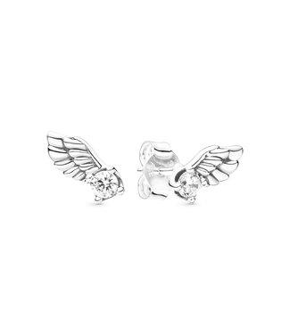 Pandora Sparkling Angel Wing stud earrings 298501C01