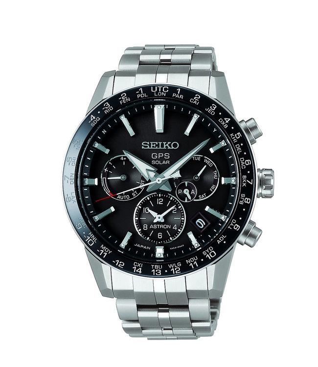 Seiko Astron GPS Solar Dual Time Titanium heren horloge SSH003J1