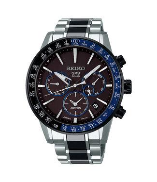 Seiko Astron GPS Solar Dual-Time Titanium/Keramiek heren horloge SSH009J1