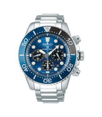 Seiko Prospex Save The Ocean Solar Chrono Special Edition heren horloge SSC741P1