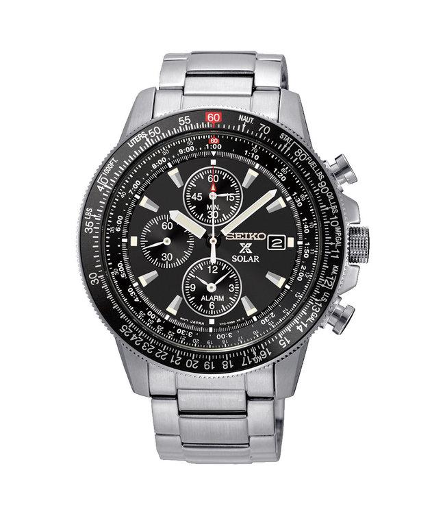 Seiko Prospex Solar Chronograph Pilot heren horloge SSC009P1