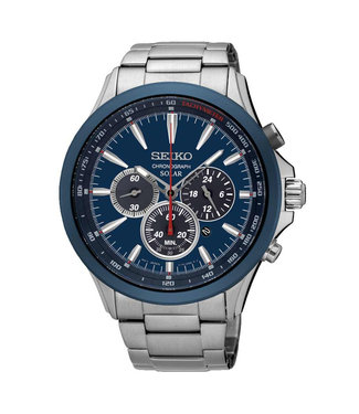 Seiko Solar Chronograph heren horloge SSC495P1