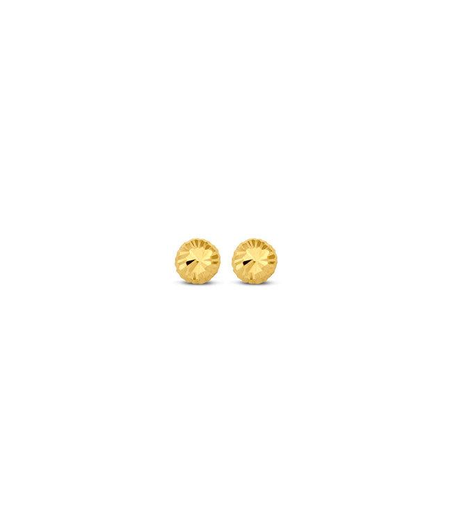 Lisamona Gold oorbellen 14kt geelgoud 3mm G0001