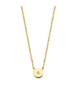 Lisamona Gold ketting 14kt geelgoud zirconia G0022