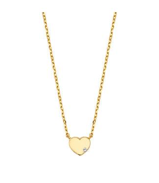 Lisamona Gold ketting 14kt geelgoud Heart G0023