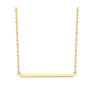 Lisamona Gold ketting 14kt geelgoud Bar G0030