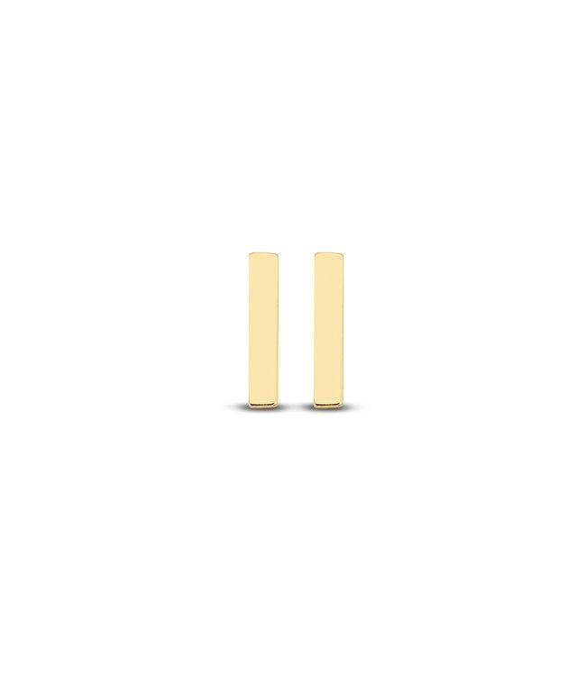 Lisamona Gold oorbellen 14kt geelgoud Rectangle G0034