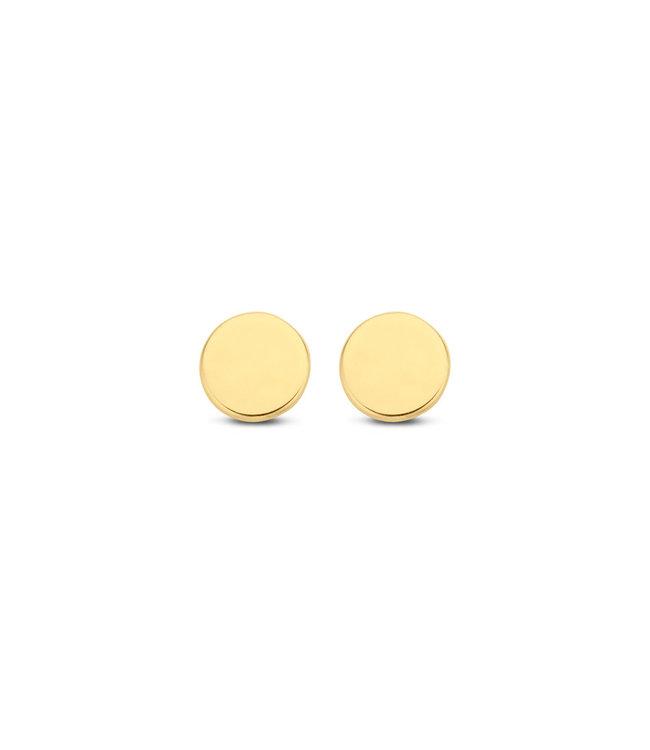 Lisamona Gold oorbellen 14kt geelgoud Round 5mm G0035