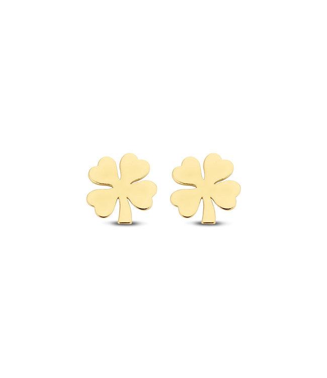 Lisamona Gold oorbellen 14kt geelgoud Clover G0037