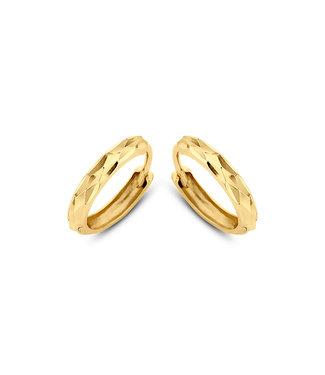 Lisamona Gold oorringen 14kt geelgoud 12mm G0048