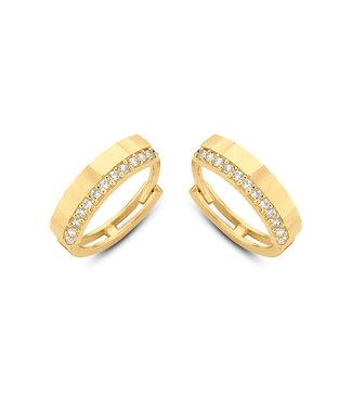 Lisamona Gold oorringen 14kt geelgoud 12,5mm G0055