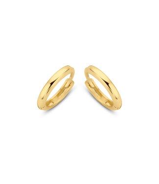 Lisamona Gold oorringen 14kt geelgoud 11mm G0059