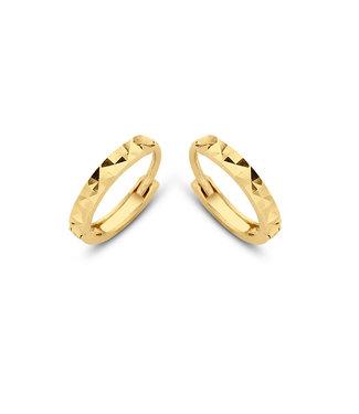 Lisamona Gold oorringen 14kt geelgoud 11mm G0061