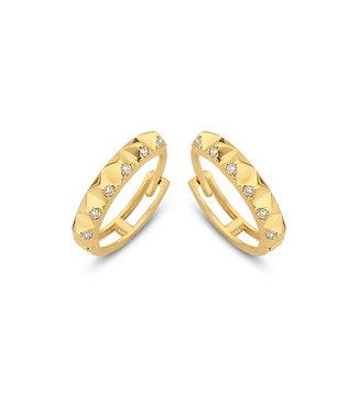 Lisamona Gold oorringen 14kt geelgoud 13mm G0063