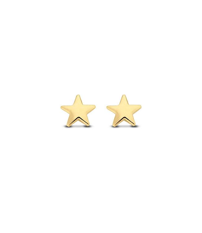 Lisamona Gold oorbellen 14kt geelgoud Stars G0067