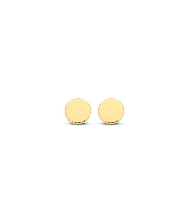 Lisamona Gold oorbellen 14kt geelgoud Round 4mm G0074