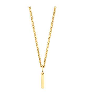 Lisamona Gold ketting 14kt geelgoud Rectangle G0075