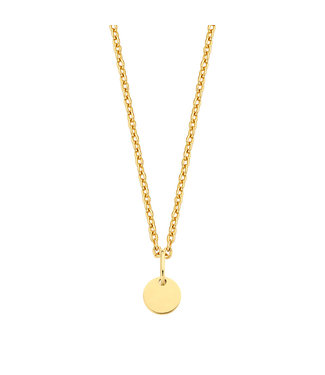 Lisamona Gold ketting 14kt geelgoud Round 5mm G0076