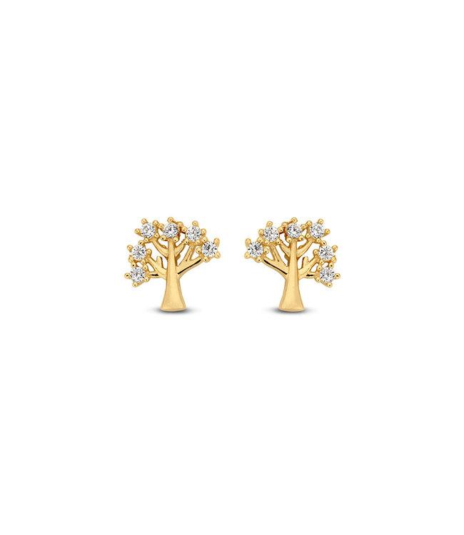 Lisamona Gold oorbellen 14kt geelgoud Tree of Life G0091