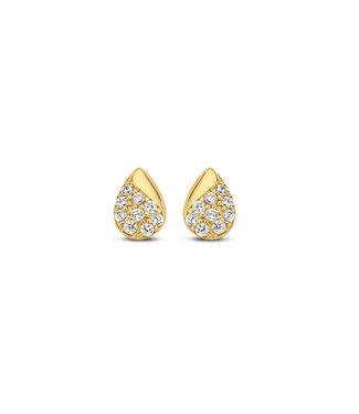 Lisamona Gold oorbellen 14kt geelgoud Tear Drop G0090