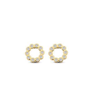 Lisamona Gold oorbellen 14kt geelgoud Circle G0094