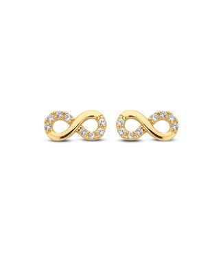 Lisamona Gold oorbellen 14kt geelgoud Infinity G0092