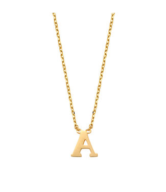 Lisamona Gold ketting 14kt Letter A G900A