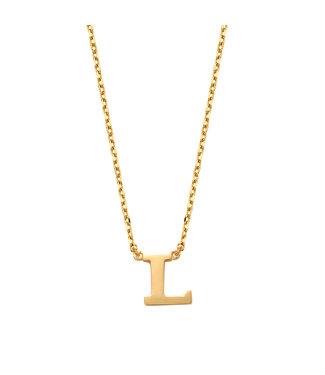 Lisamona Gold ketting 14kt Letter L G900L