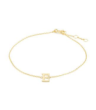Lisamona Gold armband 14kt Letter E G901E