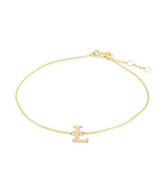 Lisamona Gold armband 14kt Letter L G901L
