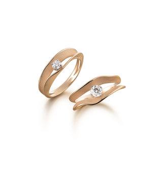 Annamaria Cammilli ring Essential Dune Assolo orange gold GAN1422J