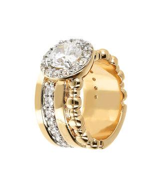 Bronzallure Shiny gemstone ring WSBZ01219Y.WR