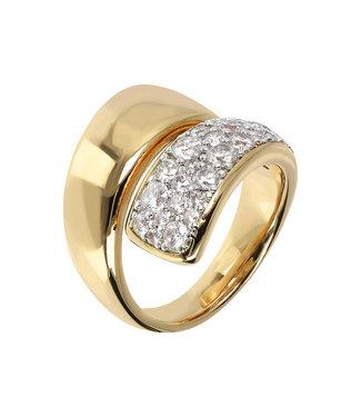 Bronzallure Shiny gemstone Double Band ring WSBZ01429Y.Y