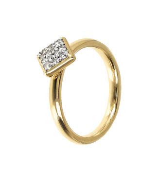 Bronzallure Squared Pavé ring WSBZ01544YY