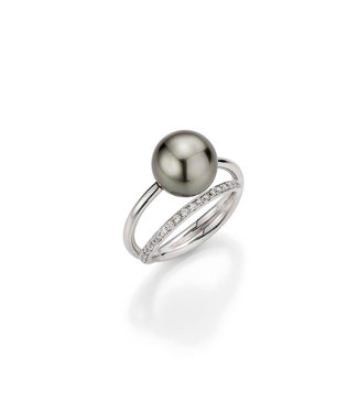 Gellner Pearls ring 18 kt goud Wave 5-22430-01