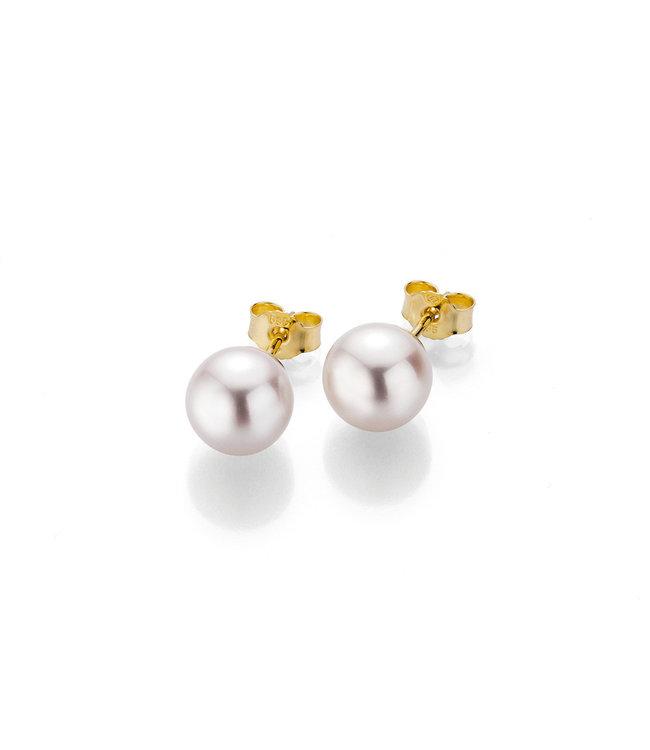 Gellner Pearls oorbellen 14kt goud met Parel 5-22694-02