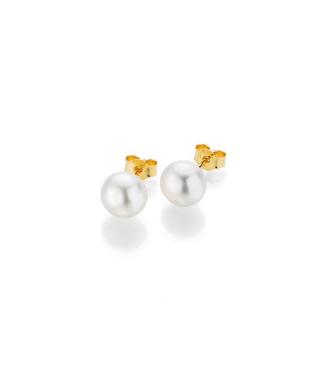Gellner Pearls oorbellen 14 kt goud met parel 5-22647-04