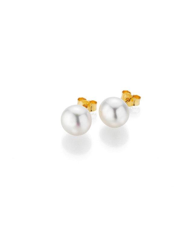 Gellner Pearls oorbellen 14 kt goud met parel 5-22648-04