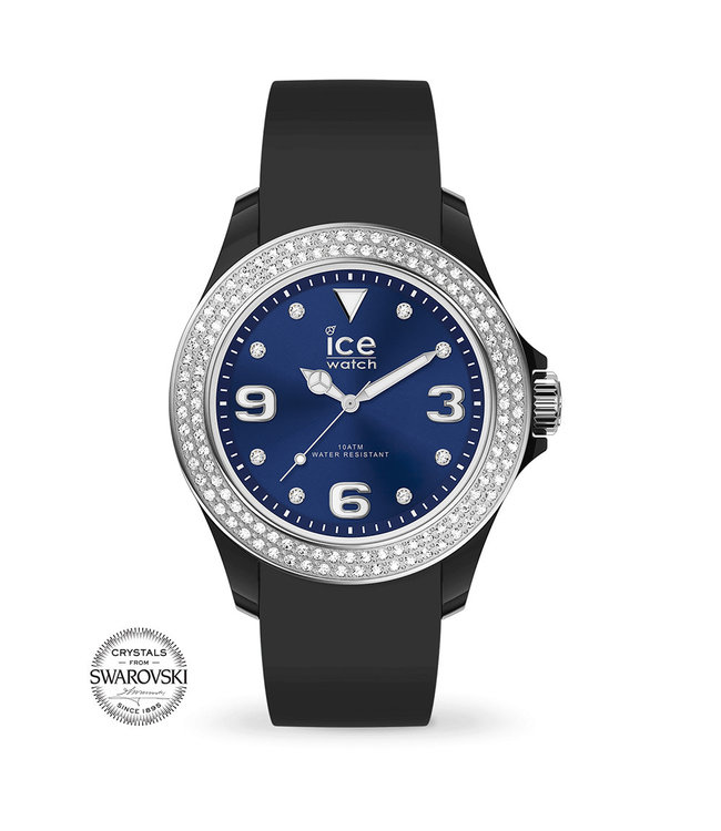 Ice Watch Ice Star - Black Deep Blue Smooth - Small - 017236