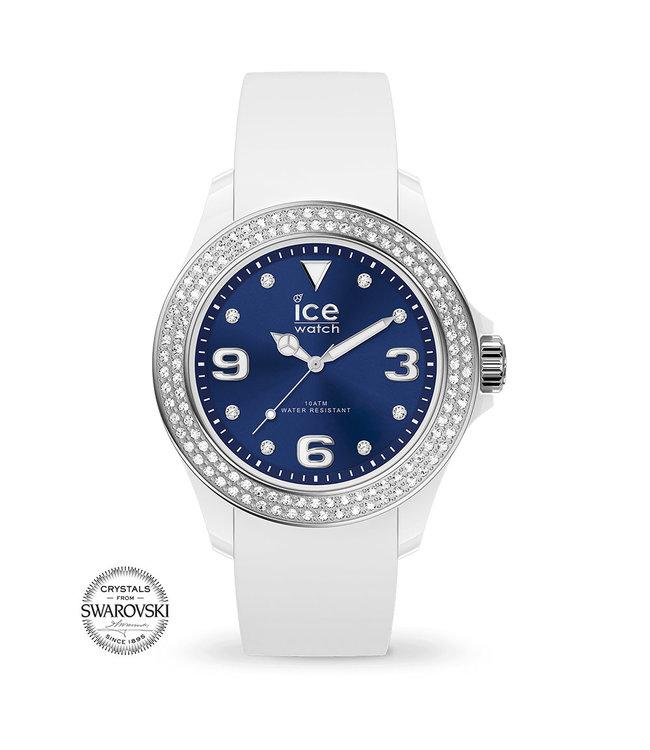 Ice Watch Ice Star - White Deep Blue Smooth - Medium - 017235