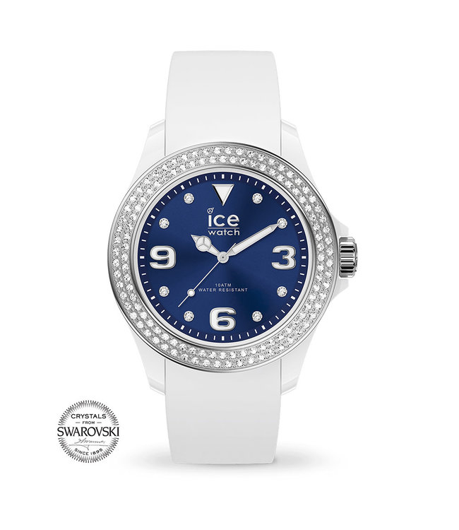 Ice Watch Ice Star - White Deep Blue Smooth - Small - 017234