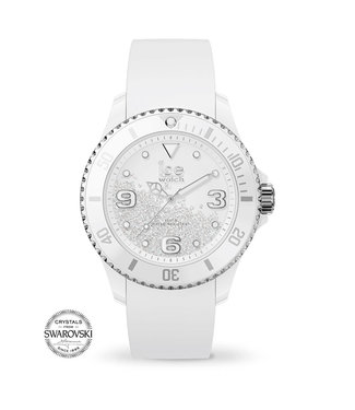 Ice Watch Ice Crystal - White Silver Smooth - Medium - 017246