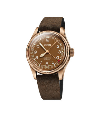 Oris Big Crown Pointer Date Brown Bronze heren horloge 0175477413166-07 5 20 74BR