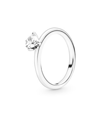 Pandora Clear Heart Solitaire Stackable ring 198691C01