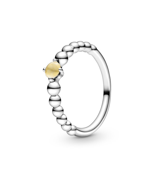 Pandora November Honey Beaded Stackable ring 198598C11