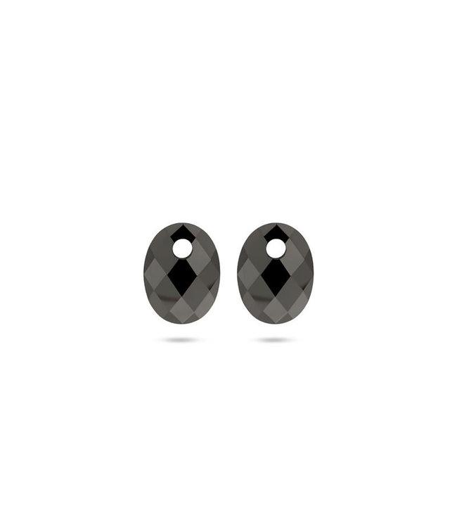 Blush oorbedels Hematite 810HEMO